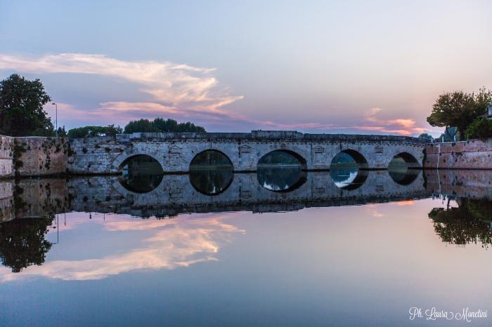 rimini-ponte-di-tiberio-tramonto